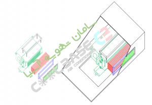 نقشه نصب فن کویل سقفی توکار فلنج برنت دریچه بازدید زیر دسترسی سقف 200 300 400 500 600 800 1000 2000